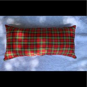 New Holiday Plaid Throw Pillow Handmade
